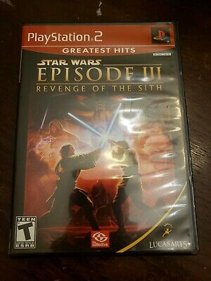 Star Wars: Episode III: Revenge of the Sith (Sony PlayStation 2, 2005) Complete