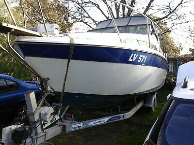 Cabin Cruiser 7 Mtr Boat As New Trailer Hull Good Condition