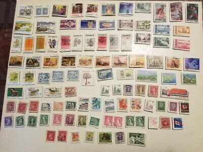 Canada 100 different x 10 = 1000 stamps off paper large and small, please read