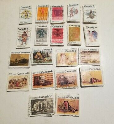 Canada 20 different x 50 = 1000 stamps off paper large and small, please read