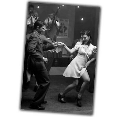 """us army officer at a party dancing with a beautiful girl Photo WW2 """"4 x 6"""" J"""