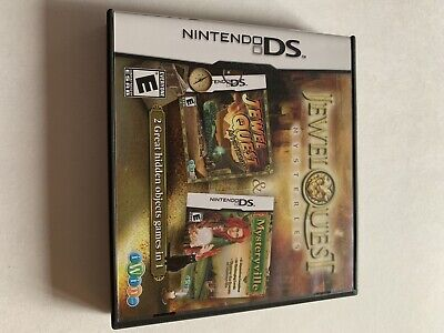 Jewel Quest Mysteries: Curse Of The Emerald Tear & Mysteryville (Nintendo DS)
