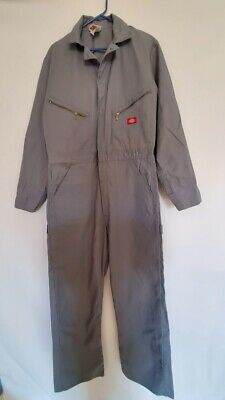 Dickies Mens Work Coverall Overalls Suit  Zip Front - RN20697