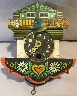 Black Forest German Chalet Cuckoo Clock - Miniature