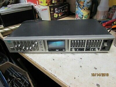 Vintage Sansui Stereo Graphic Equalizer Consolette Model RG-710 powers on