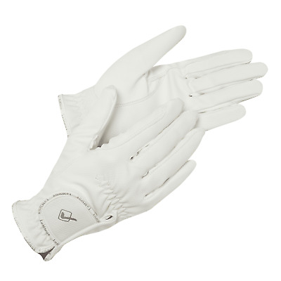 Lemieux Pro-Touch Classic Riding Gloves - White