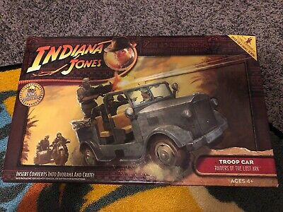 "Hasbro Indiana Jones German Troop Car Jeep Brand New in Box 3 3/4"" scale vehicle"