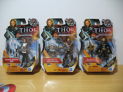 "Hasbro Marvel Universe/Thor: Mighty Avenger 3.75"" Lot of 3 Sif Hogun Volstagg"