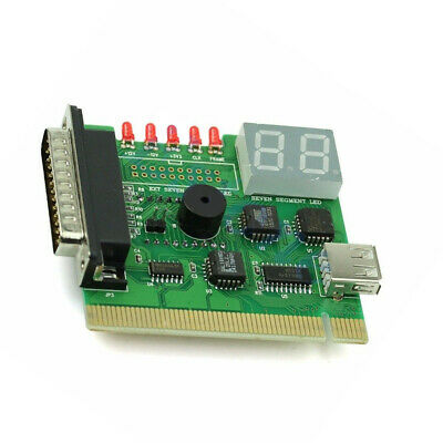 PCI USB Diagnostic Card Digital Desktop With Light Post Computer PC Motherboard
