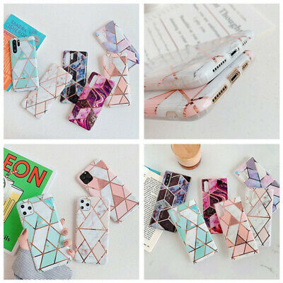 Luxury Geometric Marble Soft Silicone Slim Phone Case Cover For Smart Cell Phone