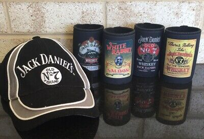Jack Daniels Whiskey Gift Set 4 Coolers And Cap