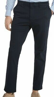NWT Tommy Hilfiger Men's Tailored Fit Flat Front Chino Pants Blue 34x32