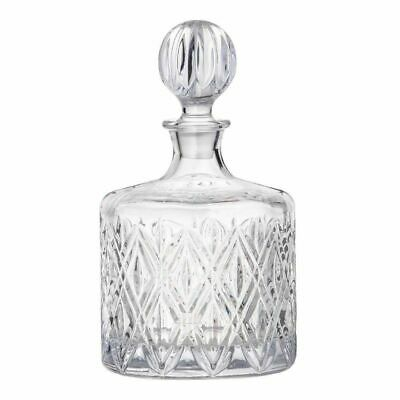 NEW DAVIS AND WADDELL FINE FOODS DELUXE GLASS DECANTER 1.2L Scotch Alcohol