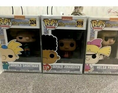Hey Arnold Funko Pop Bundle Arnold Gerald Helga With 1 Free Mystery Pop Lot Of 4