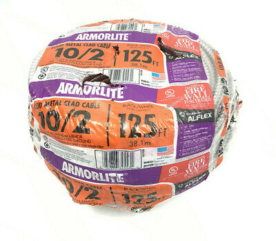 Southwire 68581805 Armorlite 125-Ft 10/2 Solid Metal Clad Cable