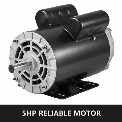 "5 HP Compressor Duty Electric Motor 22 Amp 3450 RPM 56 Frame 7/8"" Shaft 230V US"