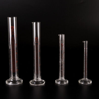 Graduated Glass Measuring Cylinder Chemistry Laboratory Measure QH
