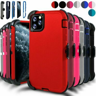 For iphone 11 Pro Max Defender Case With Screen Protector Fit Otter- box w/ Clip