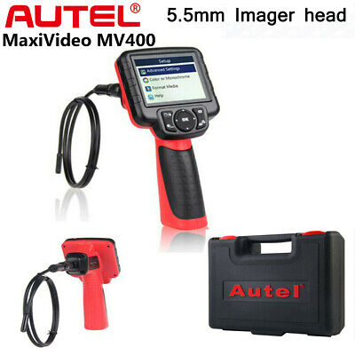 Autel Maxivideo MV400 5.5mm Videoscope Digital Inspection Camera with 3.5 LCD Monitor and Rechargeable Battery 1640 mAh