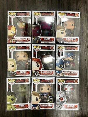 funko pop avengers age of ultron Set Mint Unmasked Captain America Ironman Thor