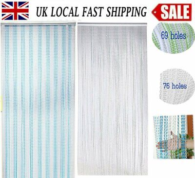 90CM Metal Aluminium Chain Door Curtain Blinds Fly Pest Insect Screen UK