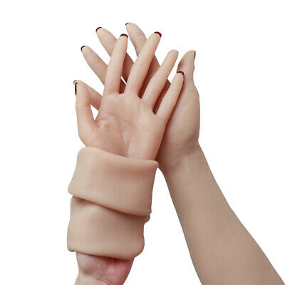 Silicone Female Glove Hands Arms Drag Queen Crossdressers Real Skin Texture Hot@