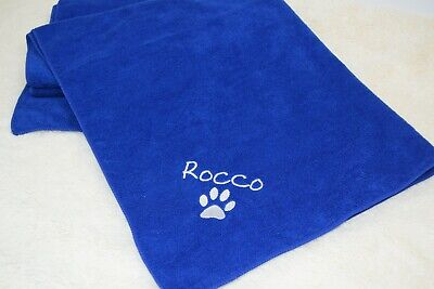 Personalised Dog towel, paw print bone print design, towel, wet dog,
