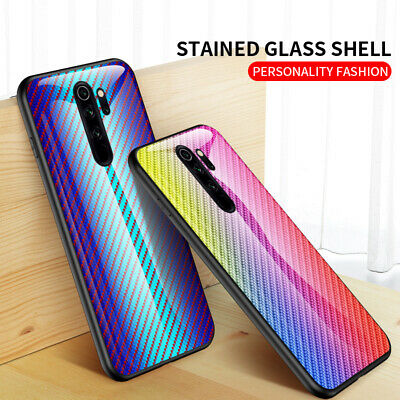 For Xiaomi Redmi 8A 7A Note 8 7 6 5 Pro Gradient Tempered Glass Back Case Cover
