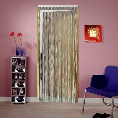 214CM Control Fly Pest Insect Aluminium Links Chain Door Screen Curtain Silver