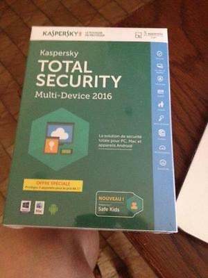 kapersky total security multi device 2016  5appareils neuf