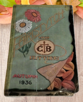 Vintage Fairstych Stitch Embroidery Needlework Patterns CB Cottons 1936 Booklet