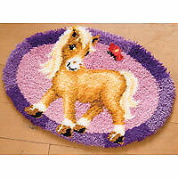 Vervaco PN-0144090 | Large Hole Canvas Pony Rug Latch Hook Kit