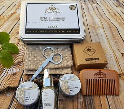Beard & Mustache Daily Care & Grooming Essential Kit 8 Pcs Gift Set Winter Aroma