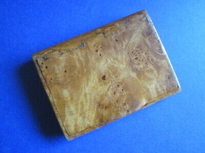 Antique Victorian Burr Walnut Snuffbox