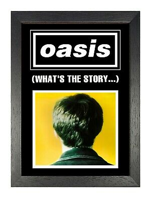 Oasis What's The Story Photo Singles Album Liam Noel Gallagher Legend Poster