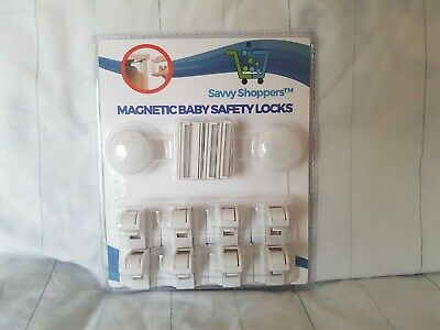 Magnetic Baby Safety Locks 8 Pack Child Cupboard Lock