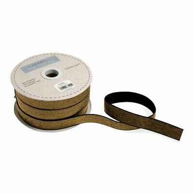 Metallic Gold Elastic Trim | White | 25m x 20mm | GTCE0120