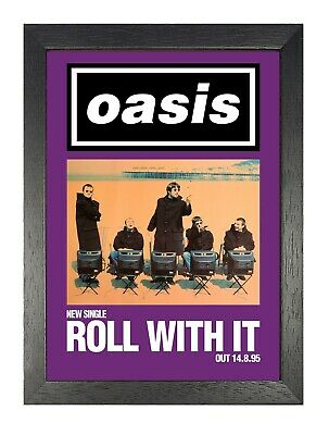 Oasis Roll With It Purple Photo Singles Album Liam Noel Gallagher Legend Poster