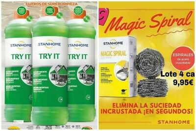Stanhome. Lote 3 Try It + 4 cajas espirales mágicas