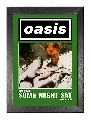 Oasis Some Might Say Green Photo Singles Album Liam Noel Gallagher Legend Poster