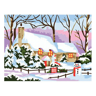 Royal Paris Tapestry Printed Canvas Snow Cottage Winter | 98801070152