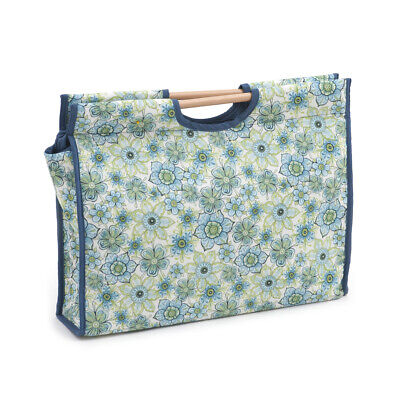 S&W Collection HGCB280 | Craft Bag with Wooden Handles | Lydia Pattern