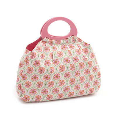 S&W Collection HGGB279 | Gathered Knitting Bag | Blossoming Trellis Pattern