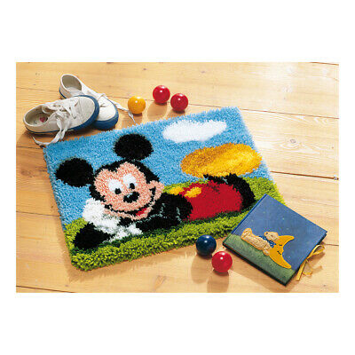 VERVACO|Latch Hook Kit: Rug: Mickey Mouse|PN-0014720