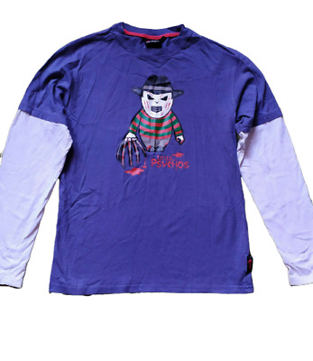 Fishbone Little Psychos Shirt Freddy Krueger Size XS Teen Kids Unisex Halloween