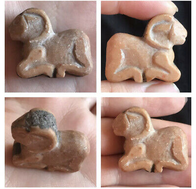 Wonderful Old Soft Stone Excellent Ram Animal Amulet