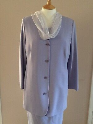 Lucia Lilac Dress Jacket Scarf Outfit Size 14 Wedding Party Mother Of Bride