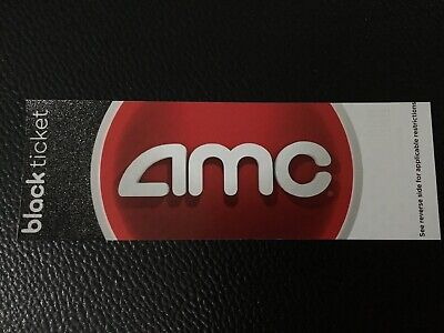 AMC Theatres 10 Black Tickets Movie E-Ticket Fast Delivery no expiration