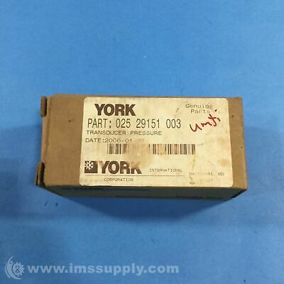 York International 025 29151 003 Pressure Transducer FNOB