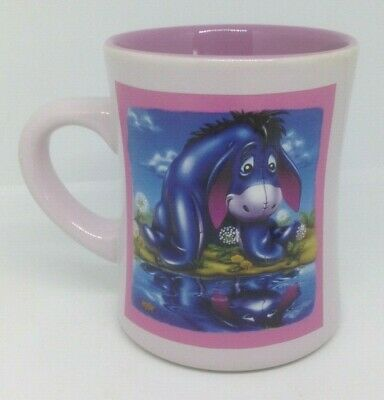 "Disney Store ""Winnie the Pooh Works"" Eeyore 3-D Embossed Ceramic Large Mug"
